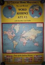 25x38 Country Home Magazine's World Reference Atlas & Gazatteer ND SD Map 1940s