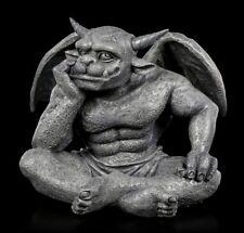 Gargoyle Figur - Warten auf die Unendlichkeit - Gothic Drache Gargyolestatue