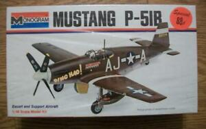 1973 1/48 scale MODEL KIT of a MUSTANG P-51B by MONOGRAM