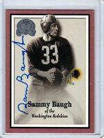 Washington Redskins SAM SAMMY BAUGH auto autographed signed 2000 FLEER Card (D)