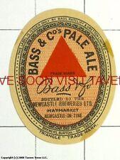 England Bass Ale Newcastle on Tyme Bottler label Tavern Trove