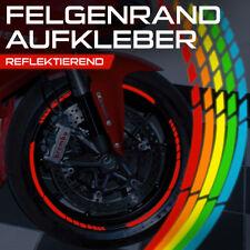 Reflektierende GP Design Felgenaufkleber Auto Motorrad Grün Orange Schwarz