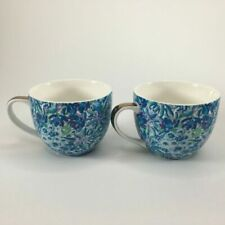 Lilly Pulitzer Ceramic 12oz Mugs - Blue Floral, Pack of 2