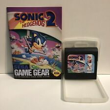 SEGA GAME GEAR SONIC 2 WITH PROTECTOR CASE AND BOOKLET