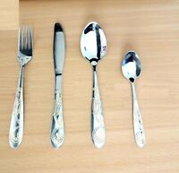 4-24PC Stainless Steel Kitchen Cutlery Set Tableware Dining Party Spoon Forks