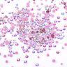 Nagel Strasssteine AB Color Pink Flacher Boden Mixed Size 3D Nail Art Dekoration