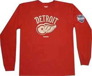 Detroit Red Wings Reebok 2014 Winter Classic Long Sleeve T Shirt New tags MEDIUM