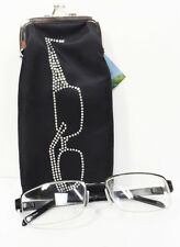 Sunglasses or Glasses Travel Carrying Pouch with Rhinestone Design