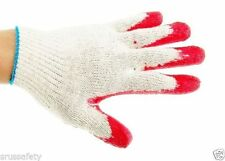 240 Pairs Red Latex Rubber Palm Glove, 1 Case Work Gloves, Made in Korea