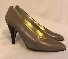 NIB CHARLES JOURDAN Paris Grey Leather Pumps Size 7.5 Women's