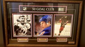 NY Rangers 50 Goal Scorers Autographed Jagr Graves Hadfield - MSG Collectibles