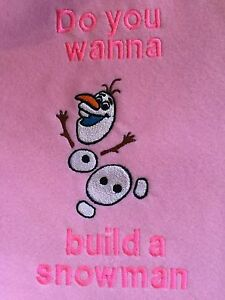 Personalized Embroidery Olfa do you want to build a snowman baby blanket