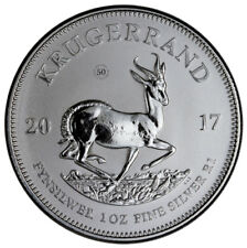 2017 South Africa 1 oz. Silver Krugerrand GEM Premium Unc In Mint Box SKU45952