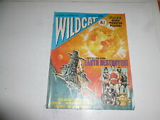 WILDCAT Comic - No 1 - Date 22/10/1988 - UK Paper comic (With FREE Poster)