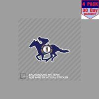 Kentucky Ky Racing Horse Flag Jockey 4 Stickers 4x4 Inch Sticker Decal