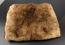 Vtg Large Real Brown Fur Muff Hand Warmer Fashion Soft Winter Ohio Cosplay Craft
