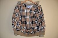 Burberry's Prorsum Very Rare Women's Nova Check Plaid Harrington Jacket Size 40