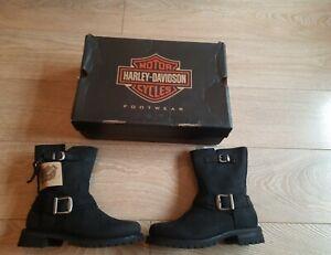 Harley-Davidson ladies leather biker Boots Black noir Scarlet bnib sold out new