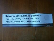 Virgin Trains Window Label-Liverpool to London Euston (VT/WC 387)