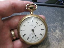 ELGIN GOLD FILLED CASE LARGE SIZE MENS RUNNING Pocket Watch