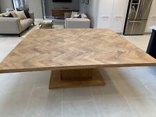 Square 16 Seat Dining Table - Parquet Design, Bespoke Measurements.