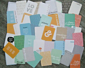 """'JADE' PROJECT LIFE CARDS BY BECKY HIGGINS - 3"""" X 4"""" - 46 CARDS"""