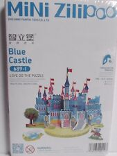 New 3D Mini Model Puzzle Of Blue Castle, Perfect Girls Christmas Present Gift