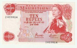Mauritius 1967 10 Rupees P.31 ( UNC- ) prefix A