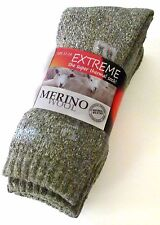 3 PAIRS MENS KING SZ 11-14 GREY MERINO WOOL THERMAL CUSHION FOOT WORK SOCKS
