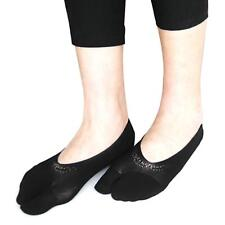 Two Toe Separator Ankle Socks Yoga Fitness Ballet Sports Hosiery Casual Black