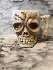Vintage Skull Head Coffee Mug Bone Handle Ceramic T.T