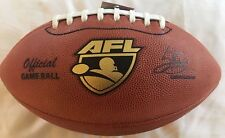 Spalding AFL Football 2016 Official Game Ball Leather Practice with a PRO BALL