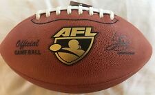 Spalding Afl Football 2016 Official Leather Game Ball Practice with a Pro Ball