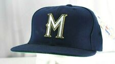 Milwaukee Brewers Blue Fitted 7-1/4 MLB Baseball Cap Snapback