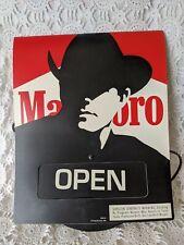 Marlboro Open Closed Advertising Promo Cardboard Window Sign 1992