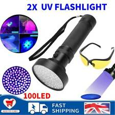 2x UV Ultra Violet LED Flashlight Blacklight Light 365 nM Inspection Lamp Torch