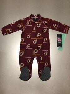 Washington Redskins One Piece Stretchie Pajamas for Kids 3-6 Months §P1