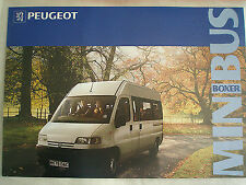 Peugeot boxer minibus gamme brochure 1994