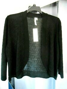 Women/'s NY Collection wrap cardigan sweater cotton long sleeve size large $54