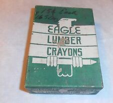 Vintage 1936 Eagle Lumber Crayons Box Green New York London Toronto