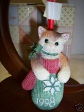 Calico Kittens Mitten Dated '98 Ornament 359645~ Nib * Free 1st Class Ship Usa
