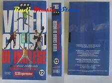 film VHS VIDEOCORSO DI INGLESE CARTONATA L'ESPRESSO VOL. 12   (F30*) no dvd