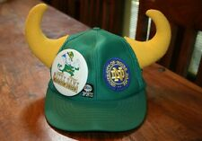 Notre Dame Football Snapback Cap Hat Rally Horns & PIN-ABC Sports Crest vintage