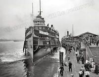 Photograph Vintage Steamship City of Cleveland Detroit River 1910 8x10