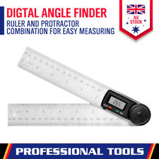HORUSDY 7 inch 200mm 0-360° Angle Finder Digital Protractor - Stainless Steel