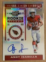 2019 Contenders Optic Prizm Rookie Ticket Auto Andy Isabella #103. Cardinals