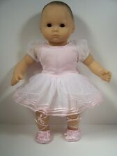 PINK Ballerina Costume Dress w/Slipper-Shoes Doll Clothes For Bitty Baby (Debs)