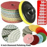 12Pcs 4'' Diamond Polishing Pads Wet Dry Set Kit For Granite Concrete Marble