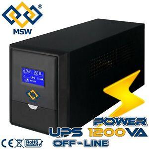 Gruppo Di Continuità UPS 1200VA LCD Sistemi Videosorveglianza 4 8 16 Telecamere