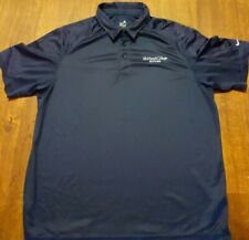 Nike Team Tennis Golf Fit Dry Men Xl Navy Blue Polo Shirt Casual Outdoor Fit Dry